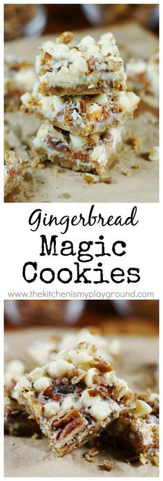 Gingerbread Magic Cookies ~ a Christmas version of the classic you'll go crazy for!     www.thekitchenismyplayground.com