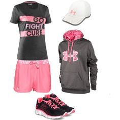 Cancer Fighting Under Armour, created by purplemickey17 on Polyvore