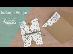 DIY: Invitación Vintage para Bodas - YouTube