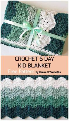 Afghan Crochet Patterns, Crochet Blanket Patterns, Baby Blanket Crochet, Crochet Stitches, Crochet Baby, Free Crochet, Knit Crochet, Crochet Afghans, Crochet Blankets
