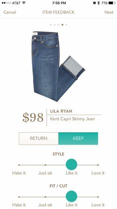 I'd love a flattering pair of shorts or capris in my next fix. These look great! Lila Ryan Kent Skinny Jean Capris