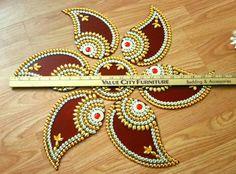 Rangoli Kundan Rangoli Diwali decorations by JustForElegance
