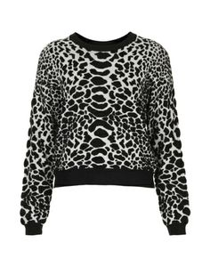 Topshop Knitted Animal Quilted Jumper #refinery29