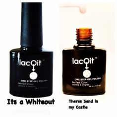 LacQit at home gel nail polish French Manicure on one easy step!