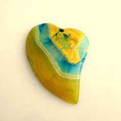 60x44MM Blue Green Yellow Onyx Agate Druzy by MyDestashDelights