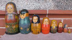 8-GENUINE-ANTIQUE-RUSSIAN-MATRYOSHKA-NESTING-DOLLS