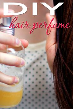 If you want your hair to smell pretty, here's the perfect DIY Hair Perfume recipe for you! It's super simple to make and softens your hair to boot!