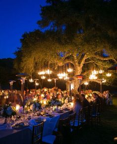 Outdoor reception - Try something different at your reception-so awesome!