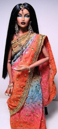 Bollywood Iman Barbie - ©lovedolz i personally think taht this doll is really cool how they can make the sari and everything! Fashion Dolls, Fashion Royalty Dolls, Moda Fashion, Fashion Art, Pretty Dolls, Beautiful Dolls, Chic Chic, Manequin, Diva Dolls