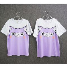 Tokyo Dollie Design Spree Picky Alpaca Cotton T-shirt Top Free Ship SP140931 #amazing #PlusSize
