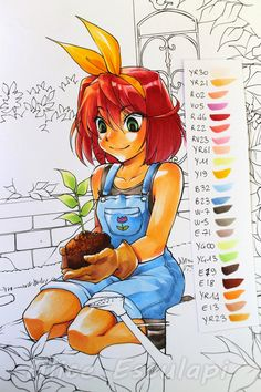 Copic Italy: Tutorial - Prelude to the textures - Check out the tutorial... really interesting use of some contrasting colours to get the shadows on some of the items