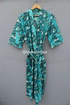 Beach Kimono, Summer Kimono, Long Kimono, Kimono Dress, Silk Kimono, Cotton Kaftan, Bridesmaid Robes, Bridal Robes, Japanese Kimono