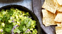 Fresh celery lightens this guacamole and adds some serious crunch, while chiles add some serious heat.