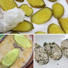 "Oven ""Fried"" Pickles with Skinny Herb Buttermilk Ranch Dip | Skinnytaste"