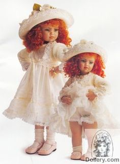 Jan Mclean 2001 Nellie and Little Nell dolls