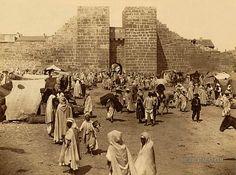 Market in front of the Byzantine Gate of Solomon: Tebessa, Algeria 1860-1890   Documentarist   Historic Photo Archive