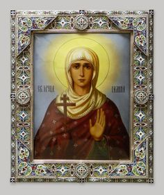 Saint Galina The Great Martyr - icon Russian Icons, Russian Orthodox, Orthodox Icons, Cathedral, Catalog, Saints, Mary, Christian, Artwork