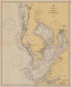Tampa Bay Florida Historical Map - 1932