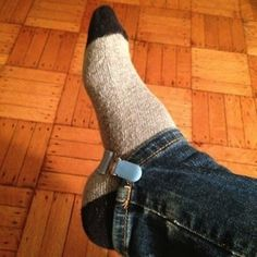 Keep pants from bunching up inside boots with a clip. | 21 Brilliant Solutions To Life's Awkward Problems
