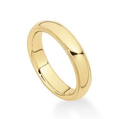 Betteridge Collection 14k Gold Wedding Band with Milgrained Edge (5mm)