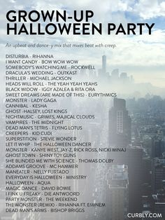 The Ultimate Halloween Music Guide: 80 Tunes For Every Mood – – Source by Related posts: Your Ultimate Halloween Playlist Is Here 6 Fab Halloween Party Games Your… Halloween Tags, Halloween Designs, Casa Halloween, Halloween Music, Adult Halloween Party, Halloween Movies, Halloween Birthday, Halloween 2019, Halloween Party Decor