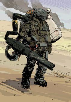 Robot concept art sci fi future soldier 51 Ideas for 2019 Armor Concept, Concept Art, Arte Ninja, Arte Sci Fi, Gato Anime, Futuristic Armour, Sci Fi Armor, Future Soldier, Arte Cyberpunk