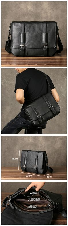 Leather Messenger Bag, Mens Travel Briefcase, Leather Laptop Bag Men GZ054 Mens Leather Laptop Bag, Leather Briefcase, Leather Bag, Mens Travel, Bag Men, Monogram Logo, Men's Apparel, Cyber Monday, Body Bag