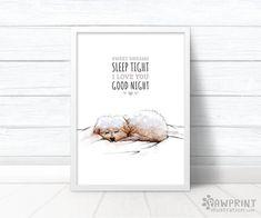 "Puppy Nursery Decor ""Sweet dreams, sleep tight, I love you, goodnight"" dog nursery decor baby shower gift, Dog nursery new baby gift Puppy Nursery, Nursery Art, Nursery Decor, Good Night I Love You, Cool Dog Houses, Animal Prints, Art Prints, Sleep Tight, Maltese"