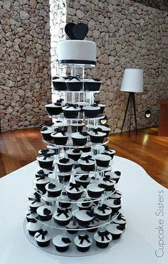 Wedding Stuff Black White Weddingswedding Whitecupcake Towersgolf