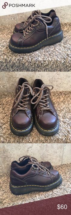 Dr. Marten Boots Very nice Dr. Marten Boots, brown leather, women's size 6, sole and leather is in great condition. Dr. Martens Shoes Ankle Boots & Booties