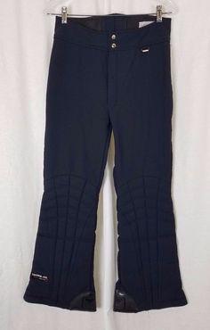 Vintage Obermeyer Gore-tex Insulated Snow Ski Snowboard Pants Black Mens 34 80s #Obermeyer #SkiPants