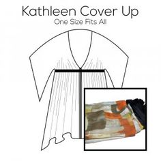 Kathleen Cover Up Pattern with Green Fabric Kit Green Fabric, Pattern Paper, Underwear, Cover Up, Kit, Prints, Lingerie