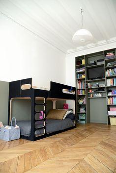 Kids room kaki // Aménagement chambre d'enfant, fille / garçon | Lit Perludi Amber the sky | vanessa pouzet le blog