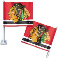 Chicago Blackhawks Car Flags
