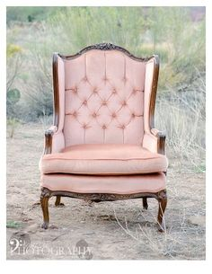 Vintage chairs make the prettiest props for bridal shoots and wedding decor.