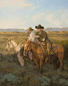 David Griffin, Brothers of the Land, oil, 30 x - Southwest Art Magazine West Art, Animal Art, Fine Art, Native American Art, Southwest Art, Western Art, Horse Sketch Art, Animal Paintings, Country Art