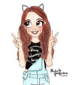 kawaii team luv it Tumblr Drawings, Bff Drawings, Kawaii Drawings, Disney Drawings, Easy Drawings, Cute Girl Drawing, Cartoon Girl Drawing, Girl Cartoon, Kawaii 365