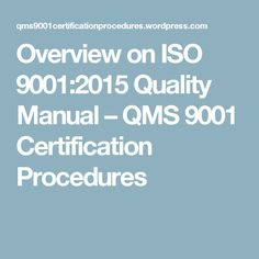 sample iso 9001 quality manual