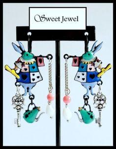 Lol Bijoux Boucles d/'Oreilles Lapins Gris Arbre Bleu
