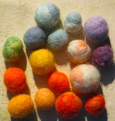 How to make felted balls--for necklaces, decorations, whatever...