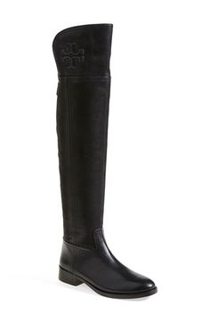 Tory Burch 'Simone' Over the Knee Boot (Women) at Nordstrom Heeled Boots, Shoe Boots, Shoes Heels, Shoe Bag, Thigh High Boots, Over The Knee Boots, Boot Brands, Thing 1, Tory Burch Flats