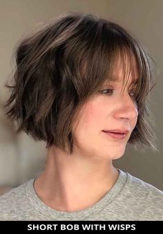 Style your hair into this striking short bob with wisps for the makeover you've been wanting! Need more inspiration like this one? Here are the 28 cool ideas for wispy bangs you need to try this year. // Photo Credit: @hair.helga on Instagram Wispy Bangs, Latest Hairstyles, Looks Great, Hair Cuts, Super Cute, Hair Styles, Photo Credit, Sexy, Bob