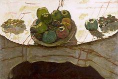 Pierre Bonnard - Assiette de pommes sur une table