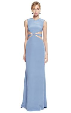 Cushnie Et Ochs Silk Crepe Cut Out Gown by Cushnie et Ochs for Preorder on Moda Operandi