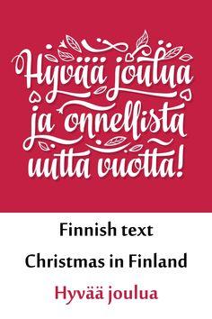 Finnish text Christmas in Finland Hyvaa joulua Christmas Farm, Christmas Text, Illustrations, Graphic Illustration, School Design, Finland, Design Bundles, Free Design, Design Elements
