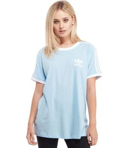 adidas Originals California T-Shirt – Sky Blue/ White – Womens