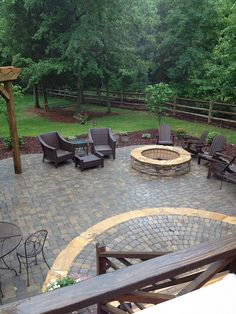 Monroe paver patio by Fine Edge Landscape Design, via Flickr