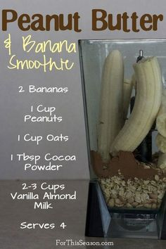Healthy Smoothies Peanut Butter and Banana Breakfast Smoothie Recipe(Paleo Breakfast Smoothie) Breakfast Smoothie Recipes, Banana Breakfast, Smoothie Drinks, Healthy Smoothies, Healthy Drinks, Paleo Breakfast, Diet Drinks, Paleo Smoothie Recipes, Banana Smoothies