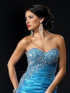 Gorgeous Sweetheart Mermaid Sequins/Ruffles Evening Dresses - $188.99 - Trendget.com