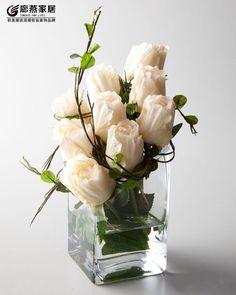 花瓶玻璃方形桌面摆放透明花瓶小方口方形鱼缸水晶品质欧式花瓶-淘宝网全球站